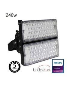 LED Foco proyector para pistas deporitvas Bridgelux Chip - 240W 240Lm/W - 40º