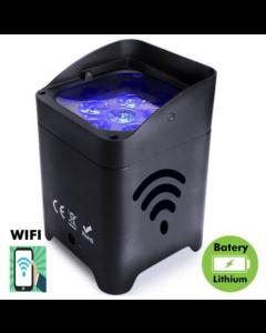 Spot LED para eventos con batería RGBW + A + UV - Control WiFi - Smartphone - LedHome - DMX