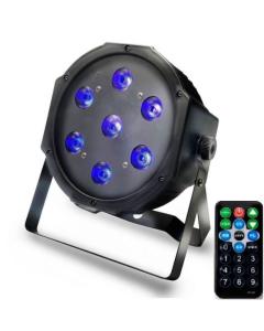 Foco PAR LED DMX Light UV - Ultravioleta - con Mando a Distancia 28W