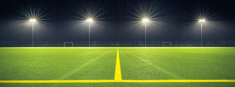 iluminación de estadio